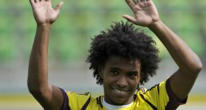 Anzhi Makhachkala striker Willian who seems to be next on the list for Tottenham