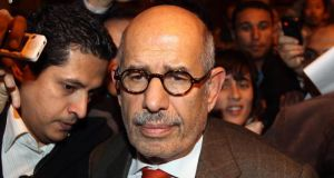 "Mohamed ElBaradei: a civil court decided to consider a case for ""breach of national trust"" filed against former interim vice-president. Photograph: Peter MacDiarmid/Getty Images"