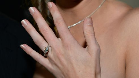 There's Molly showing off the ring that Kyle gave her. The lad had it planned. Photograph: Domnick Walsh/Eye Focus