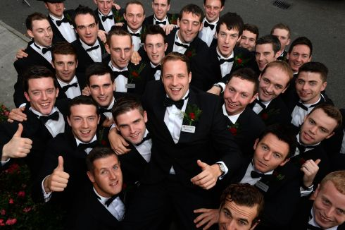 Jonny McGailey (centre), after being crowned Rose of Tralee Escort of the Year for 2013. Photograph: Domnick Walsh/Eye Focus