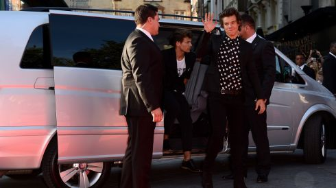 Harry Styles arrives on the red carpet in London.  Photograph: Ian Gavan/Getty Images