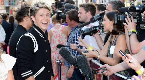 Niall Horan from One Direction attends the and meets fans. Photograph: Ian Gavan/Getty Images