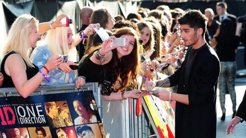 Zayn Malik arriving for the World Premiere of One Direction: This Is Us. PicturePhotograph: Ian West/PA Wire