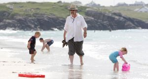Michael Harding on the beach at Carrickfinn, where he had chased girls around the sand dunes as a boy