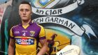 Wexford captain Lee Chin at Windmill Lane to promote the two under-21 semi-final hurling games – Galway v Clare and Wexford v Antrim –  in Semple Stadium on Saturday. Photograph: Lorraine O'Sullivan/Inpho