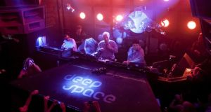 Comeback clubs: Giorgio Moroder at the Output in New York this year. Photograph: Karsten Moran/The New York Times
