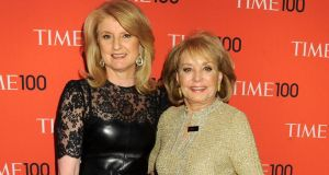 Arianna Huffington and Barbara Walters at a function in New York in the summer of 2013. Photograph: Jennifer Graylock/Getty Images