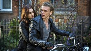 Lily Collins and Jamie Campbell Bower in The Mortal Instruments: City of Bones