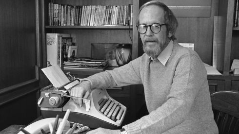 The writer Elmore Leonard died this week, aged 87. He was one of America's foremost crime writers. He also became known for his ten rules for writers. With his death they've come to our attention again so we're publishing them here. Make up your own mind. [At home in Birmingham, Michigan in 1983.] Photograph: Rob Kozloff/AP