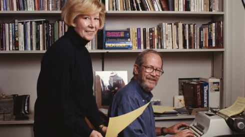 "3. ""Never use a verb other than 'said' to carry dialogue."" [Elmore Leonard with his wife Christine in Detroit, Michigan 1992.] Photograph: Michael Brennan/Getty Images"