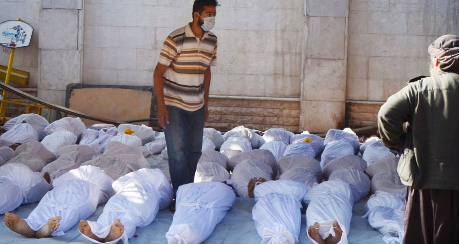 Hundreds killed in Syria gas attacks