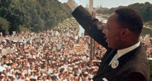 Let freedom ring: Martin Luther King jnr at the Lincoln Memorial on August 28th, 1963. Photograph: AP Photo