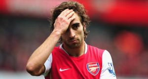 Mathieu Flamini could be back in the Arsenal midfield this weekend.  Photograph: Shaun Botterill/Getty Images