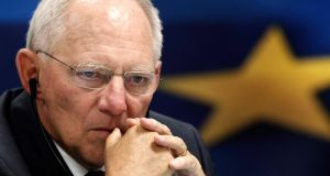 German Finance Minister Wolfgang Schaeuble welcomed the positive figures. REUTERS/John Kolesidis/Files
