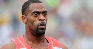 Tyson Gay. PhotograpH: Christian Petersen/Getty Images