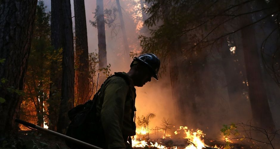 Fire at Yosemite National Park