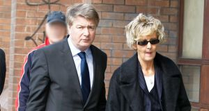 Solicitor Brian O'Donnell and his wife Dr Mary Patricia O'Donnell arriving at the High Court for a previous hearing . Photograph: Collins Courts