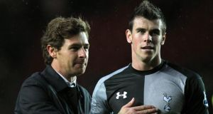 Tottenham Hotspur's manager Andre Villas Boas and Gareth Bale.   Photograph: PA Wire