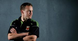 Andy Moran at the Mayo team's press night at the Breaffy Hotel in Castlebar during the week. Photograph: James Crombie/Inpho