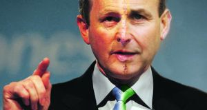 Patched up: could voters stomach a fusion of Enda Kenny and Micheal Martin? Montage: Irish Times Premedia