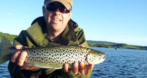 Belfast angler Philip Martin with a cracking trout from Lough Sheelin