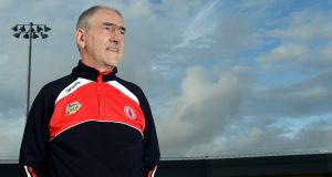"Tyrone manager Mickey Harte. ""There is a strong argument to be made that constructing yet another team capable of making it this far in the All-Ireland championship must rank as one of his finest managerial achievements."" Photograph: Stephen hamilton/Presseye/Inpho"