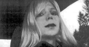 Bradley Manning, who wishes to live as a woman and be known as Chelsea.  Pte Manning will request hormone therapy for gender reassignment while in prison. Photograph: US army via Getty