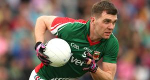 Mayo's Séamus O'Shea who forms a powerful midfield combination with his brother Aidan. Photograph: Cathal Noonan/Inpho