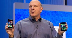 Steve Ballmer: not  yet clear whether the decision for him to step down was his lone, or if he was prompted by the board. Photograph: David Paul Morris/Bloomberg