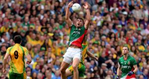 Aidan O'Shea is New Mayo personified. Powerful, dominant and without a hint of the occasional fecklessness of old. Photograph: James Crombie/Inpho