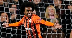 Anzhi Makhachkala forward Willian looks set to join Chelsea despite deal agrred with Tottenham. Photograph: PA.