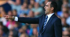 Roberto Martinez the manager of Everton has been irked by the chat coming out of Old Trafford. Photograph:  Alex Livesey/Getty Images