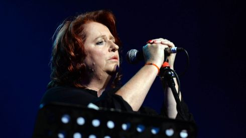 Mary Coughlan  at the Philip Chevron night at the Olympia Theatre on Saturday. Photo: Cyril Byrne / THE IRISH TIMES