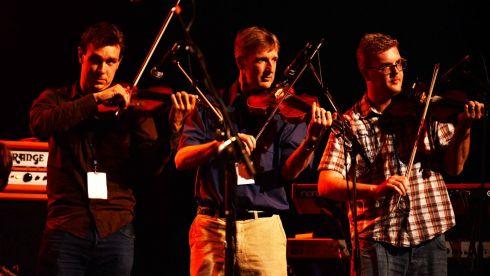 The O Connor brothers playing at the Philip Chevron night at the Olympia Theatre . Photo: Cyril Byrne / THE IRISH TIMES