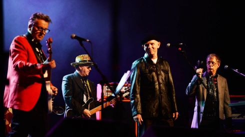 The Radiators with Brush Shields at the Philip Chevron night at the Olympia. Photo: Cyril Byrne / THE IRISH TIMES