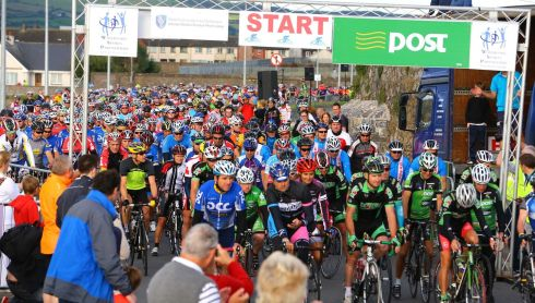 Start of the 160KM  Sean Kelly Tour of Waterford 2013. Photo :  Patrick Browne