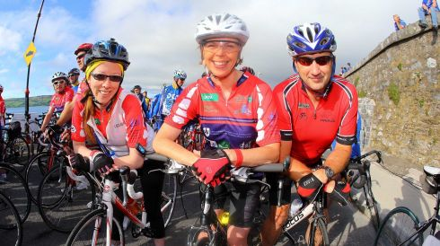 Julie Tynan, Waterford, Anne and Ken Hurley from Meath in the The Sean Kelly Tour of Waterford 2013. Picture Patrick Browne