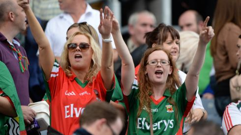 Mayo fans juniliant after their defeat of Tyrone at Croke Park. Photo: Dara Mac Donaill / THE IRISH TIMES