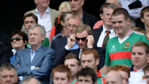 Mayoman and Taoiseach Enda Kenny TD with Paraic Duffy, Director General GAA at Mayo v Tyrone the All Ireland senior football championship semi-final at Croke Park. Photo: Dara Mac Donaill / THE IRISH TIMES