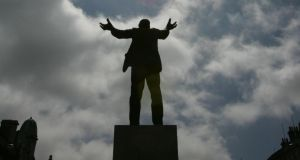 The Jim Larkin statue on O'Connell Street, Dublin (sculptor Oisin Kelly). Photograph: Frank Miller/The Irish Times