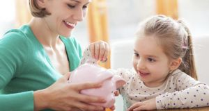 Small children typically respond better when something is more tangible, which can be more difficult in this digital era, but piggy banks can still be found