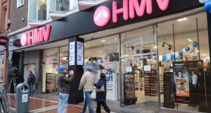 The HMV outlet on Dublin's Grafton Street, which is not one of the four stores due to reopen in September. Photograph: Alan Betson