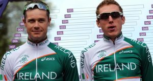 Obviously my cousin Nicolas Roche and I aren't team-mates like when we were in the London Olympics together, but we still may be able to help each other out. Photograph: Bryn Lennon/Getty Images