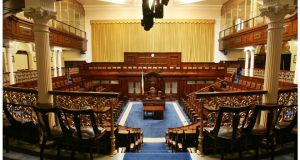 The Dail Chamber at Leinster House. Photograph: Alan Betson/The Irish Times