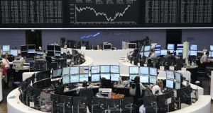 European shares fell in early trading this morning as tensions over Syria increased. Photo: Bloomberg