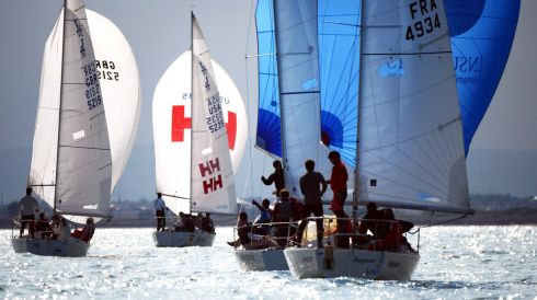 BMW J24 World Championships  off Howth yesterday. Photo: Cyril Byrne / THE IRISH TIMES