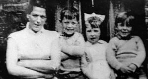 Jean McConville  with three of her children shortly before she disappeared in 1972. Photograph: Pacemaker Belfast