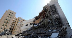A building Libyan officials described as a civil engineering office after it was bombed by Nato in Tripoli in August  2011. Photograph: Paul Hackett/Reuters