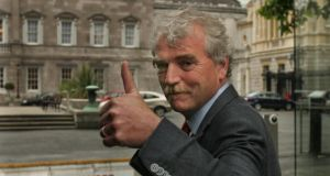 "Finian McGrath, TD: ""I am very angry when I see €3.5 million being spent on expenses in the first six months in the Taoiseach's department. On the costings we have, my legislation would cost €600,000.""  30-5-07 Photograph: Matt KavanaghThe Independent deputy Finian McGrath following meetings with representatives of the main political parties at Leinster House (Wednesday 30th May)"