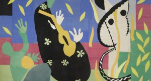 Collage: a detail of Sorrows of the King. Photograph © H Matisse Estate